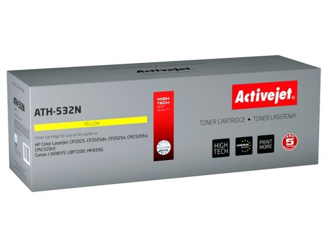 Toner Activejet ATH-532N (do Canon Hewlett Packard  zamiennik HP 304A/ Canon CRG-718Y CC532A supreme 2800str. yellow)